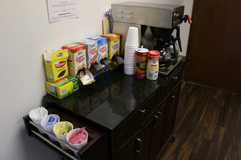 Snacks and coffee station